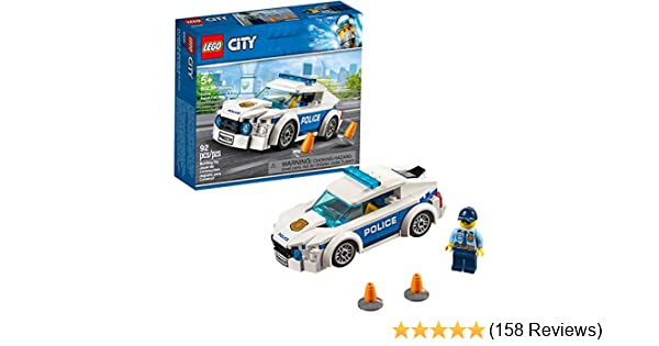 AGES 5+ NEW IN BOX LEGO CITY POICE PATROL CAR 92 PIECE SET