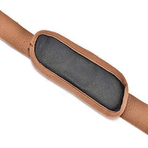 CoolBell umwandelbar Rucksack Messenger Bag verstellbarer Schultergurt mit Metallhaken für 15-17 Zoll Laptoptasche/Kameratasche/Reisetasche/Umhängetasche (ca.146 cm, Canvas Dunkel Coffee) Canvas Dunkel Coffee