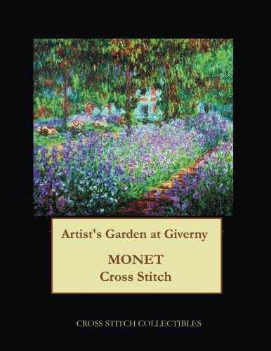 Artists Garden at Giverny Monet cross stitch pattern [Collectibles, Cross Stitch] (Tapa Blanda)