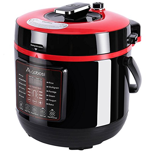 Aobosi Electric Multi-Cooker, 6L, 8-in-1 Electric Pressure Cooker, Rice...