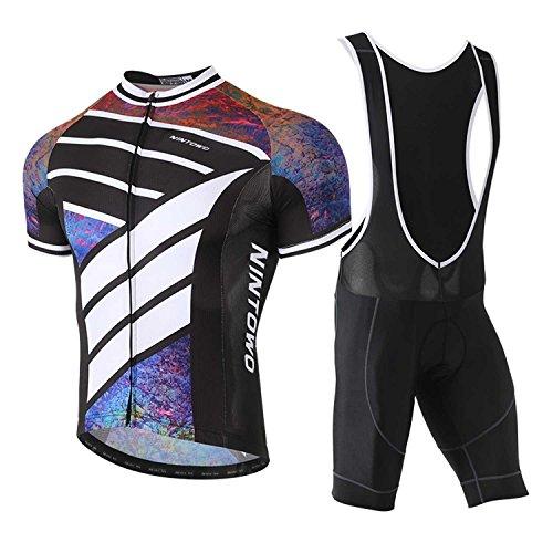 TeyxoCo 2018 Men Summer Trend Cycling Jersey Short Sleeve Padded Jersey Bid Set XL - Coors Cycling Jersey