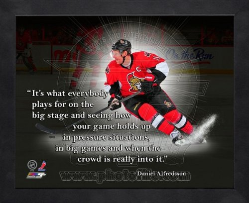 Ottawa Senators Daniel Alfredsson Photo - Daniel Alfredsson Ottawa Senators Pro Quotes Framed 8x10 Photo
