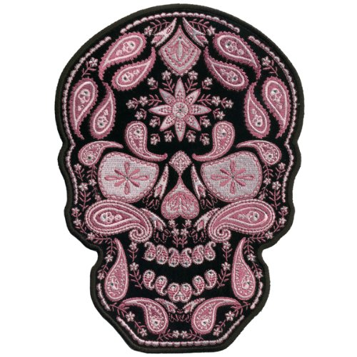 Hot Leathers Paisley Skull With Rhinestones Ladies Patch (6