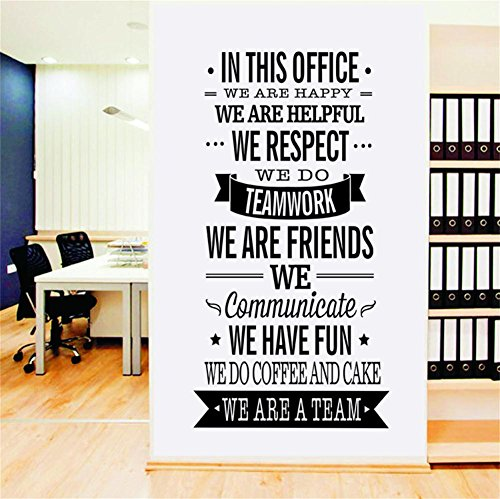 CaseFan WE ARE A TEAM English Letter Quotes Wall Sticker Vin