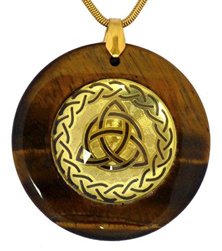 HeartsforLove Celtic Triquetra Circular Sacred Geometry Pendants (Brown) Brown Celtic Pendant