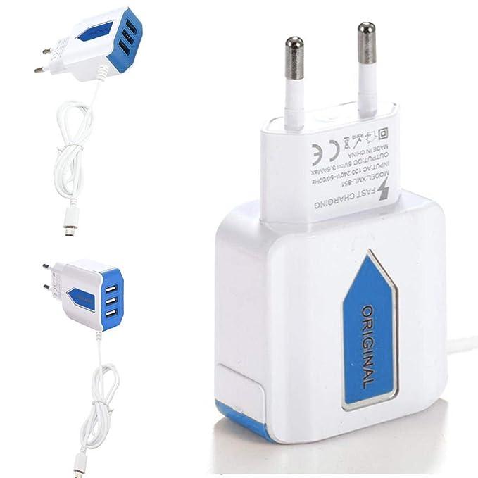 Jintes Cabezal de Carga del Color del Cargador USB del Puerto USB 3 estándar de la UE para Android Cargadores por inducción