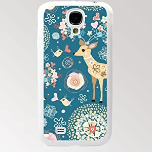 Animals Sika Deer Samsung Galaxy S4 SIV I9500 TPU Case Cover (#3 White) by supermalls