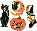 Pkgd Halloween Cutouts Party Accessory (1 count) (4/Pkg)