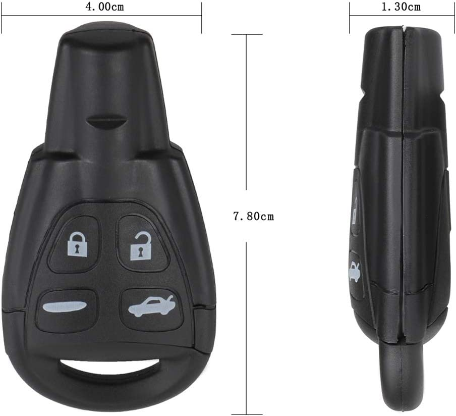 CTCAUTO Replacement Key Fob Keyless Entry Remote for Saab 9-3 2003-2011 for Saab 9-5 2003-2007 Replacement OEM LTQSAAM433TX pack of 1