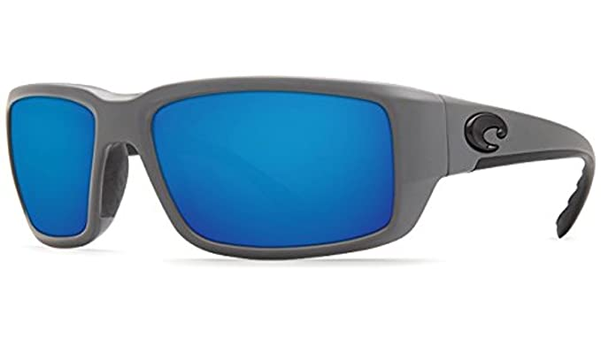 75e27850a Costa Fantail Sunglasses Matte Gray/Blue Mirror 580G & Cleaning Kit Bundle