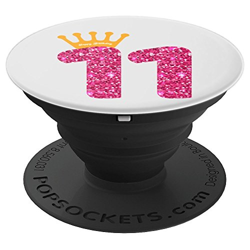 Happy Birthday Art, Girls 11th Party 11 Years Old Bday - PopSockets Grip and Stand for Phones and Tablets
