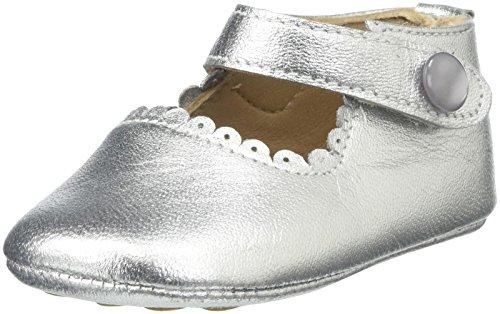 Elephantito Girls Mary Jane-Baby (Infant/Toddler), Silver, 2 M US Infant for $<!--$39.50-->