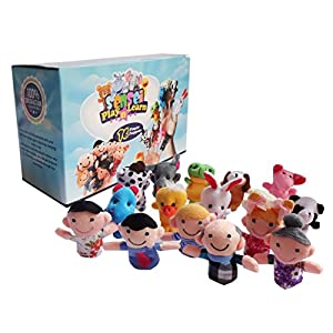 sensei play 'n' learn finger family puppets - people & animals - 16 pcs - finger puppets zoo animals & family puppets for kids, babies, toddlers & the whole family - 51BQG0dQNqL - Sensei Play 'n' Learn Finger Family Puppets – People & Animals – 16 pcs – Finger Puppets Zoo Animals & Family Puppets For Kids, Babies, Toddlers & The Whole Family