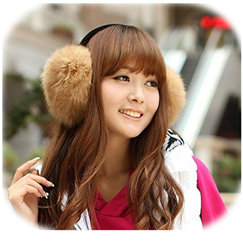 Real Fox Fur Earmuffs Furry Earflap Fur Ear (Fox Fur Earmuffs)