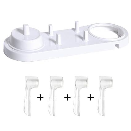Progoco - Soporte de plástico para cargador de cepillo de dientes eléctrico y cabezales Oral B, Set 2