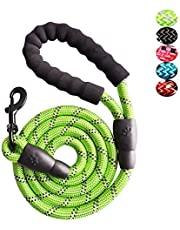 Strong Nylon Dog Leash Rope with Comfortable Padded Handle Training Lead for Medium and Large Breeds Dogs - Heavy Duty 5ft Long