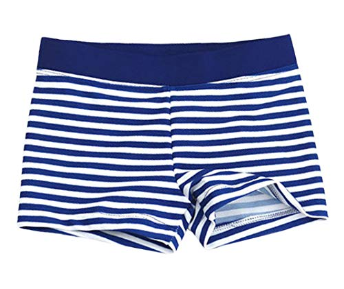 Aivtalk Kids Boys Swimming Trunks Swim Boxer Shorts Underpants, Stripe White, Small 1-2years (Holiday Boxer Shorts)