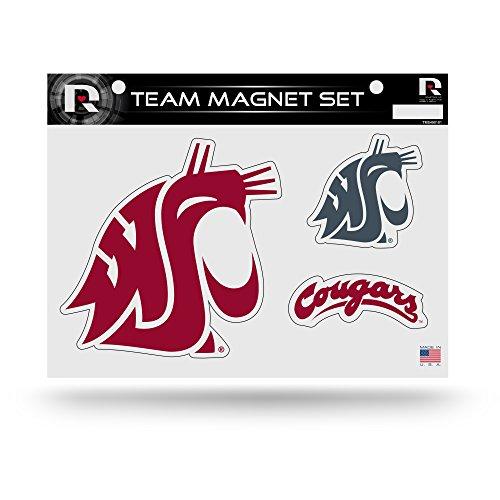 (Rico Industries NCAA Washington State Cougars Die Cut Team Magnet Set Sheet)