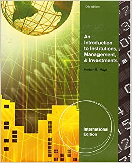 finance introduction to institutions investment and management