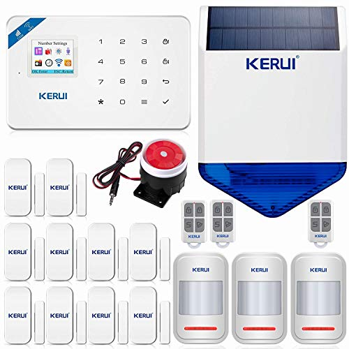 KERUI W18 Wireless WIFI+GSM Burglar Home Security Alarm System DIY Kit Auto Dial 1PCS Wireless Waterproof Outdoor Solar…