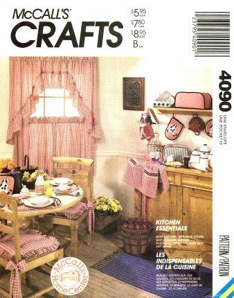 McCall's 4090 Sewing Pattern Curtains Apron Appliance Covers Pot Holder Oven ()