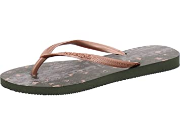 0820f1face1d39 Havaianas Slim Animals Womens Sandals UK 8 Green Olive  Amazon.co.uk ...