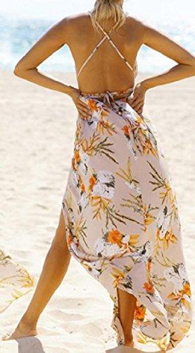 Dress Beach Coolred 5 Wear Solid Maxi Backless Women Split Comfy Long Swing SrvwSqUn
