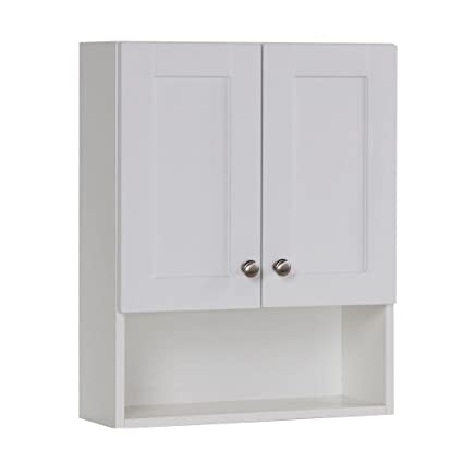 Ordinaire Glacier Bay Over Toilet Storage Cabinet In White
