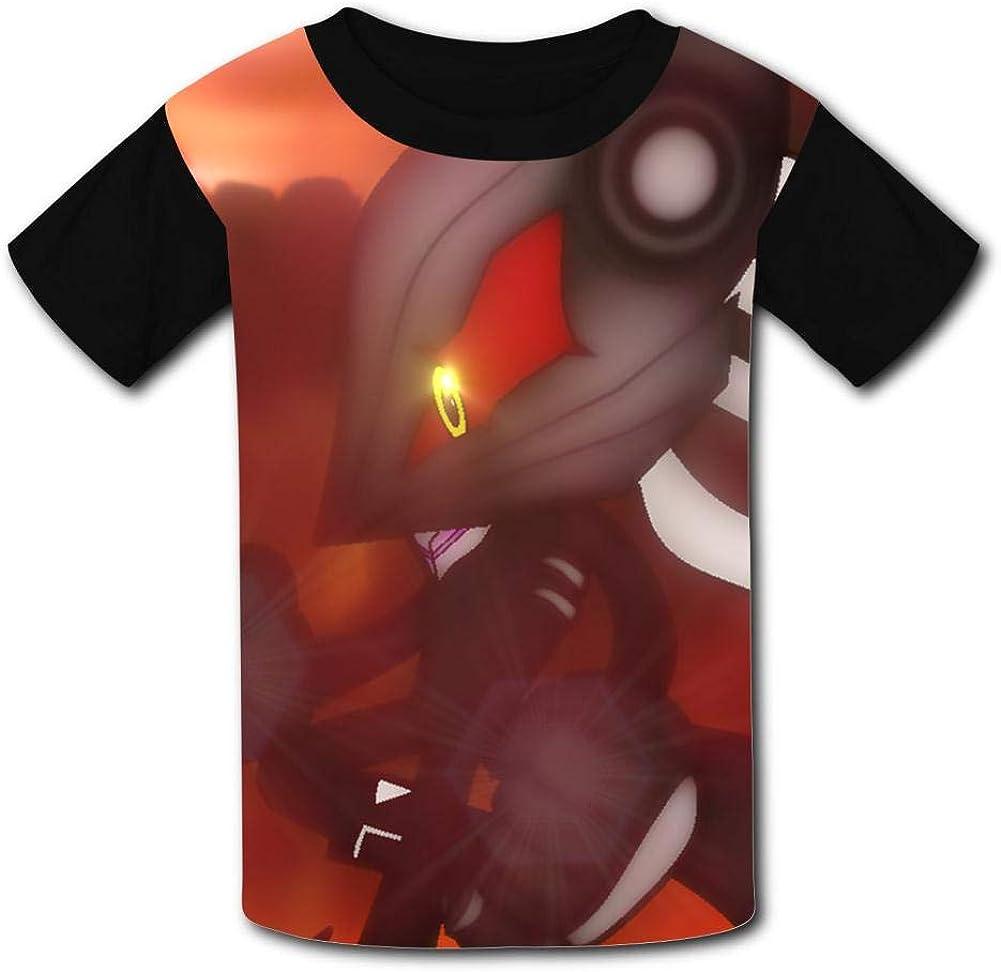 BOKAIKAI1306 Fire K-Kirby Unisex Youth Kids Round Neck Cartoon Short Sleeve T-Shirt Boys Girl Tee Top Leisure Undershirt