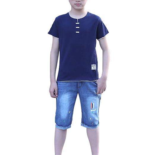 Conjunto de ropa para niños niños Verano 2 piezas trajes para ...