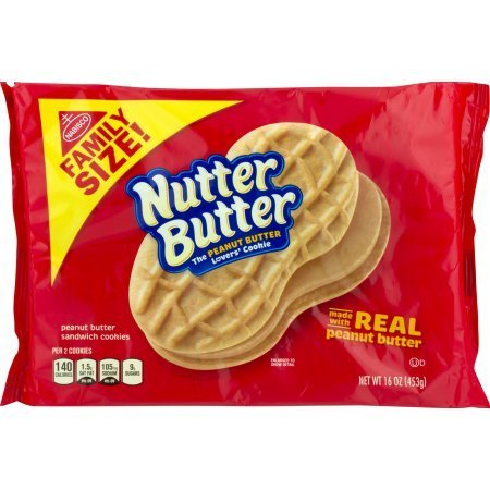 2 pack - Nutter Butter Large Family Size, 16 oz per pack