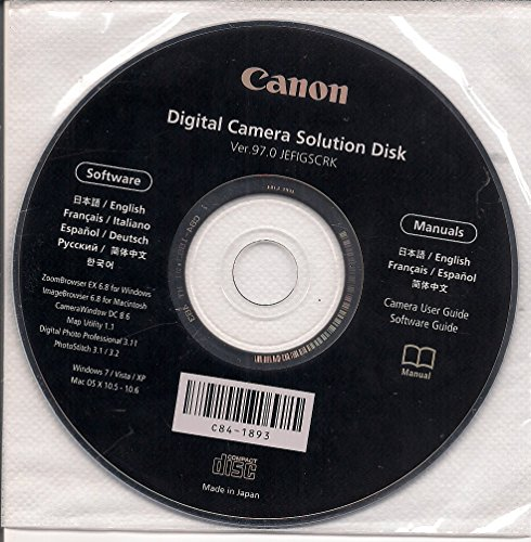 Canon Digital Camera Solution Disk Ver. 97.0 Digital Camera Solution Cd Rom