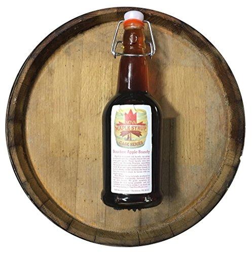 Bourbon Barrel Aged Nova Maple Syrup - Pint (16 Fl Oz) (Apple Brandy Bourbon) (Ounce 16 Barrel)