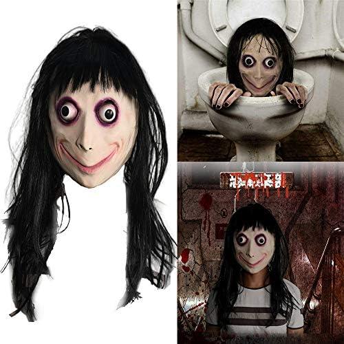 ハロウィン 不気味なマスク 呪いの人形 女の子 恐怖 コスプレ 小道具 ラバーマスク