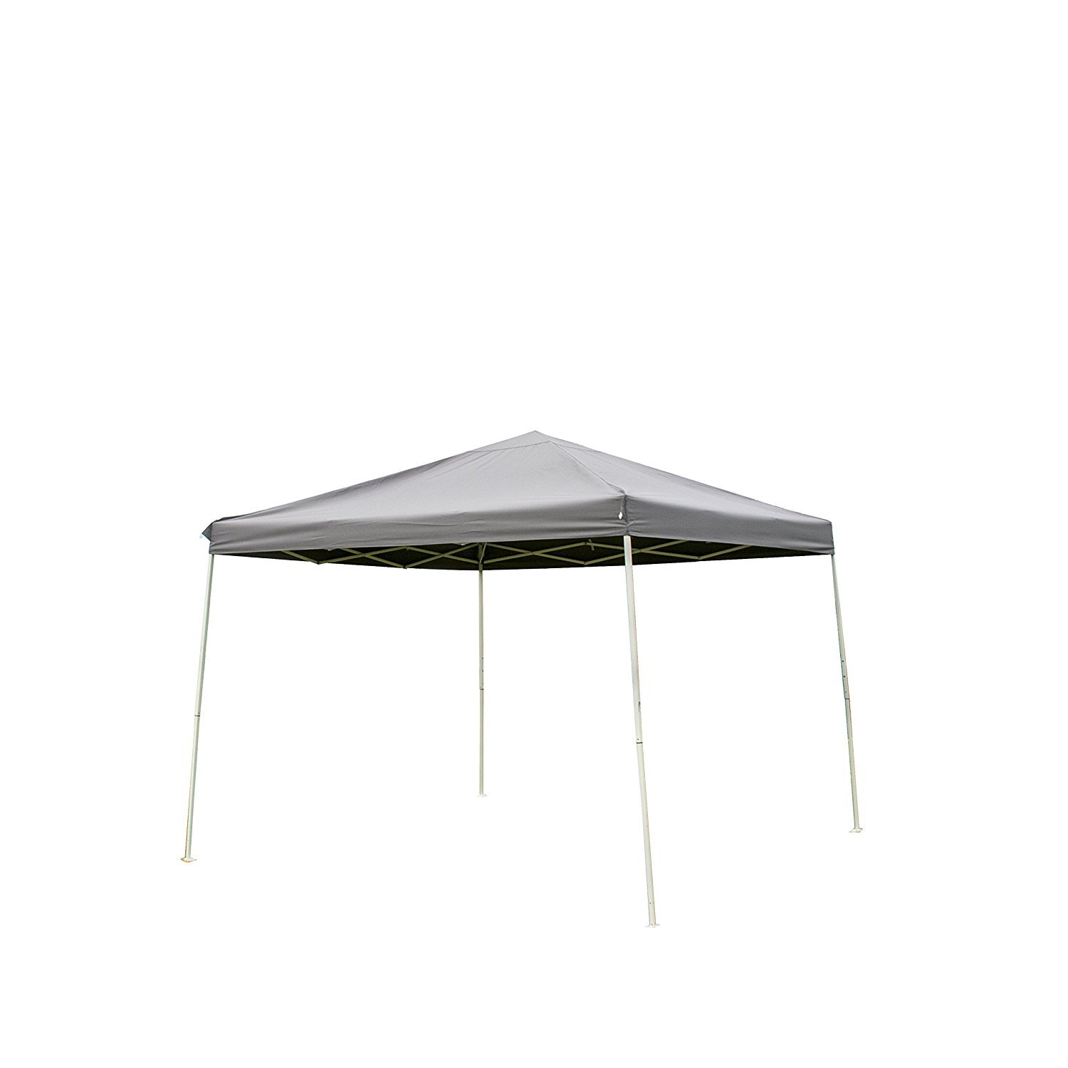 NatureFun 10 x 10 Feet Outdoor Steel Frame Pop Up Patio Instant Canopy, PU Coated Party, Dark Grey