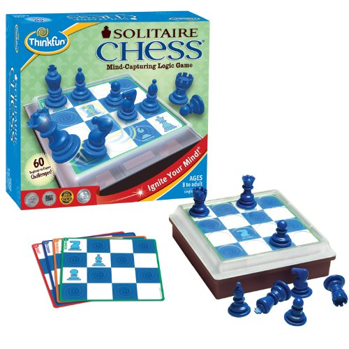 ThinkFun Solitaire Chess - Fun Version of Chess You Can Play Alone, Toy of the Year Nominee for Age 8 and Up