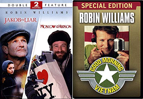 Good Moving Story 3 Robin Williams Movie Morning Vietnam & Jakob the Liar & Moscow on the Hudson Triple Feature DVD set