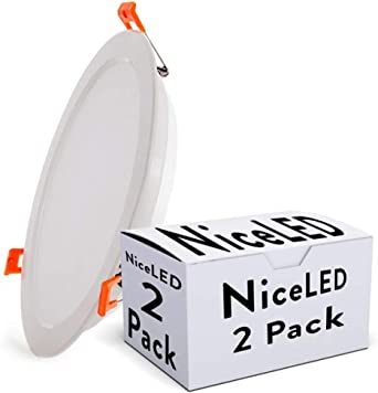 Greenice | Pack 2 Foco Downlight LED Corte 184Mm 24W 2160Lm 30.000H | Blanco Natural: Amazon.es: Iluminación