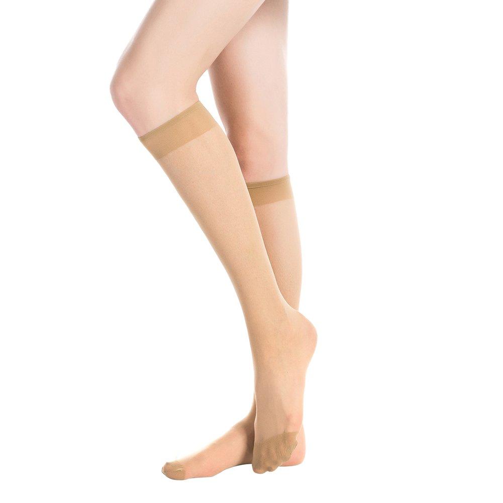 Stocking Fox Women's 6-Pack 20-Denier Everyday Knee-High Sheer Sock
