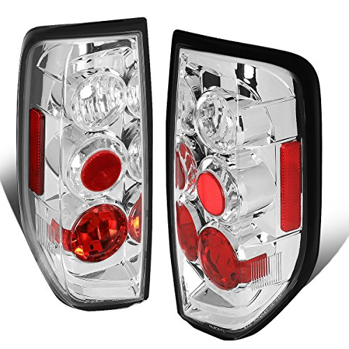 For 2005-2014 Nissan Frontier Chrome Housing Altezza Style Tail Light Brake/Parking/Reverse Lamps
