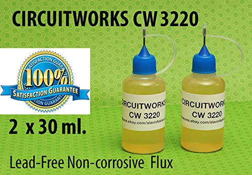 60 ml. / 2 Oz. CIRCUITWORKS CW3220 NO CLEAN SOLDERING LIQUID FLUX ()