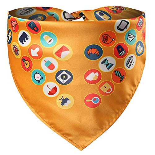 Coomour Pet Dog Bandana Puppy Ball Sports Printing Scarf Reversible Triangle Bibs Accessories for Small to Large Dogs Dogs Cats Pets