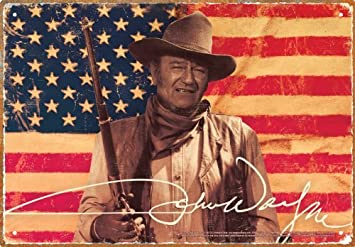 Amazon.com: John Wayne Bandera Cartel de chapa: Beauty