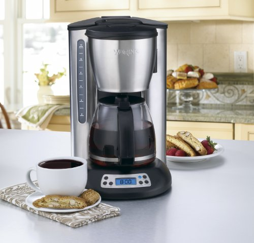 Waring Coffee Maker Reviews : Kitchen Tools Waring CMS120 Professional 12 Cup Programmable Coffeemaker, Black and Stainless ...