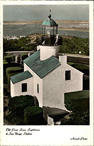 (Old Point Loma Lighthouse San Diego, California Original Vintage Postcard )