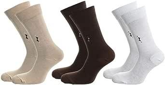 Silver-Socks For Men - Multi Color - 2724590685727