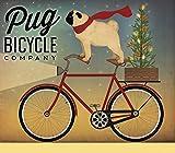 Home-Feeling ART-PRINT-for-frame-Pug-on-a-Bike-35x41_inch