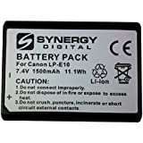 Canon EOS Rebel T3 Digital Camera Battery Lithium Ion (1500 mAh 7.4v) - Replacement For Canon LP-E10 Battery