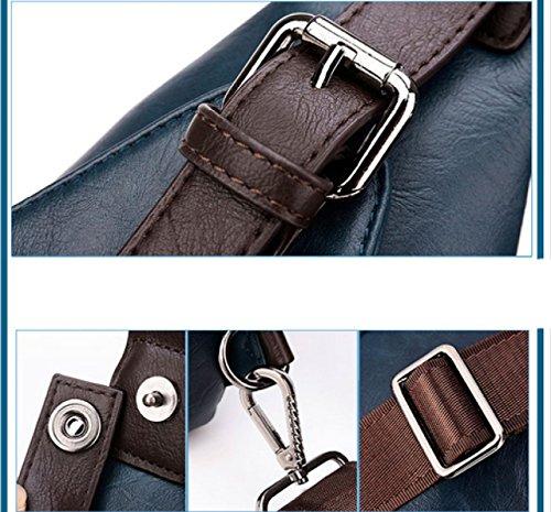 Bolso De Hombro Ocasional De Moda Del Paquete De Negocio Bolso De Hombro Bolso Del Pecho De Los Hombres LAIDAYE Blue