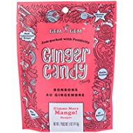 Gem Gem Ginger Candy Chewy Ginger Chews (Mango, 5.0oz, Pack of 1)
